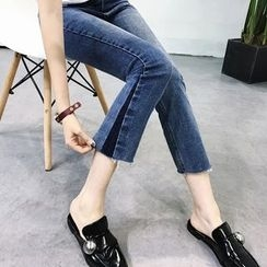 YENSI - Cropped Boot Cut Jeans