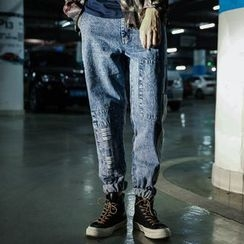 Mys Homme - Patched Straight-Leg Jeans