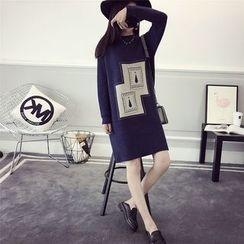 efolin - Appliqué Knit Dress