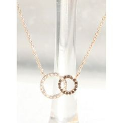kitsch island - Rhinestone Round Necklace