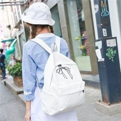 Seok - Bow Embroidered Backpack