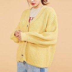 chuu - Boxy Knit Cardigan