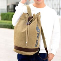 Bagolo - Canvas Drawstring-Waist Backpack