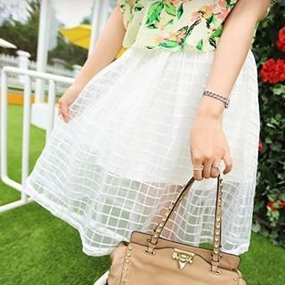 Fiinal - Check Tulle Skirt