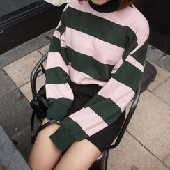 Anlay - Loose-Fit Color-Block Striped Pullover