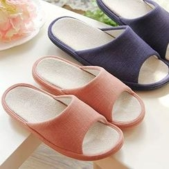 BEANS - Linen-blend Slippers