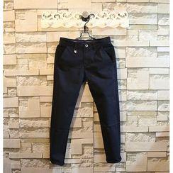 Sundipy - Plain Cropped Pants