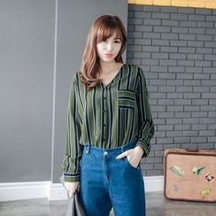 Tokyo Fashion - V-Neck Striped Blouse