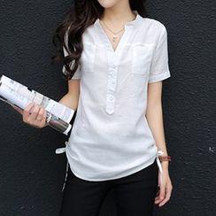 Swish - 开襟短袖衬衫