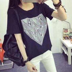 MayFair - Diamond Print Crewneck T-Shirt