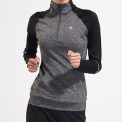 Fayton - Color Panel Half Zip Long Sleeve Sports Top