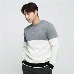 BYMONO - Crew-Neck Color-Block Sweater