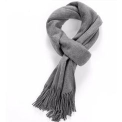 HEIZE - Fringed Plain Scarf