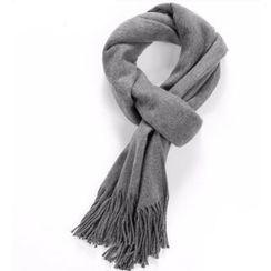 HEIZE - 流蘇純色圍巾
