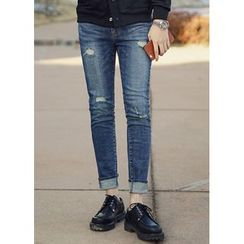 JOGUNSHOP - Plain Distressed Jeans