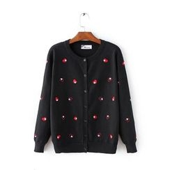 Aigan - Embroidered Knit Cardigan