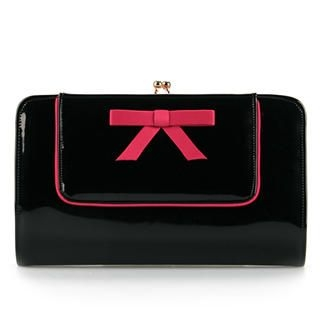 Ethel - Bow-Accent Kiss-Lock Clutch