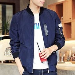 Really Point - Applique Baseball Jacket