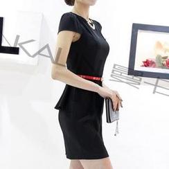 Caroe - 蓋袖荷葉腰連衣裙