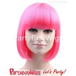 Party Wigs - PartyBobWigs - Party Short Bob Wigs - Pink