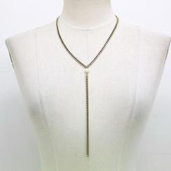 NANING9 - Faux-Pearl Pendent Necklace