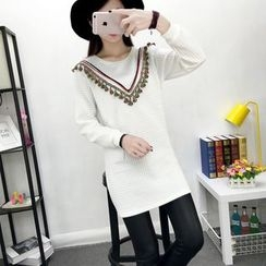 Hanaya - Slim-Fit Long-Sleeve Dress