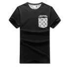 MR.PARK - Short-Sleeve Printed Panel T-Shirt