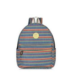 SUPER LOVER - Striped Canvas Backpack