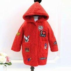 Rakkaus - Kids Hooded Applique Coat