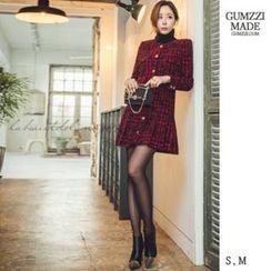 GUMZZI - 羊毛混紡粗花呢連衣裙