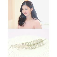 kitsch island - Rhinestone Leaf Hair Pin