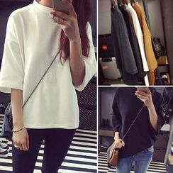 QZ Lady - 3/4-Sleeve Plain T-Shirt