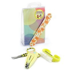 Tweezerman - Children's Care Kit: Baby Nail Clipper+ Baby Nail File+ Nail Brush+ Baby Nail Scissors