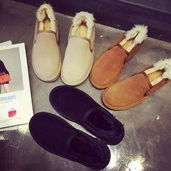 Laceuplux - Furry Slip Ons