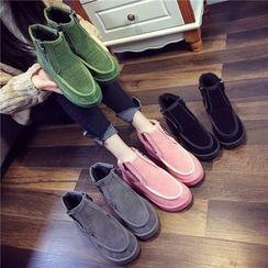Laceuplux - Fleece Short Boots
