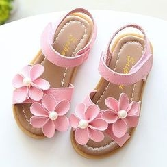 Luco - Kids Flower Accent Sandals