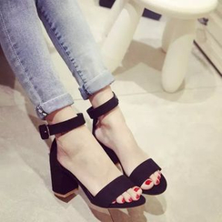 BAYO - Ankle Strap Chunky Heel Sandals