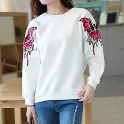 Amella - Embroidered Loose-Fit Pullover