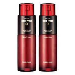 Charm Zone - DeAGE RED-WINE S Set: Skin Toner 140ml + Emulsion 140ml
