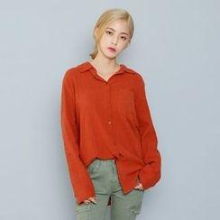 Envy Look - Long-Sleeve Textured Shirt