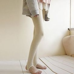 NANA Stockings - 抓毛內襯踩腳內搭褲