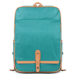 Mr.ace Homme - Contrast-Trim Buckled Canvas Backpack