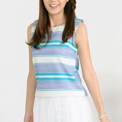 59 Seconds - Sleeveless Striped Top