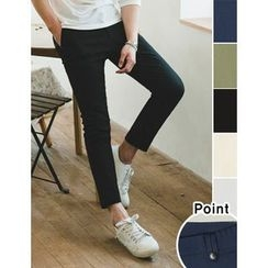 STYLEMAN - Cropped Flat-Front Pants