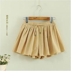 舒然衣社 - 抽绳多褶裙裤