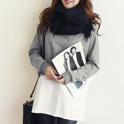 NANING9 - Inset Shirt Brushed-Fleece Pullover