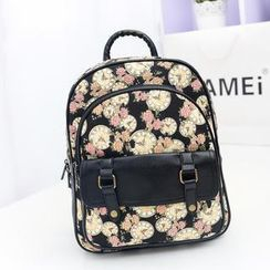 Bibiba - Print Canvas Backpack