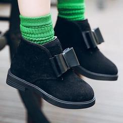 绿豆蛙童鞋 - 童装蝴蝶结短靴