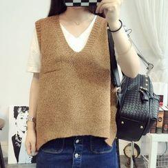 HANIA - Plain Knit Vest