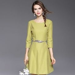 Ozipan - 3/4-Sleeve A-Line Dress